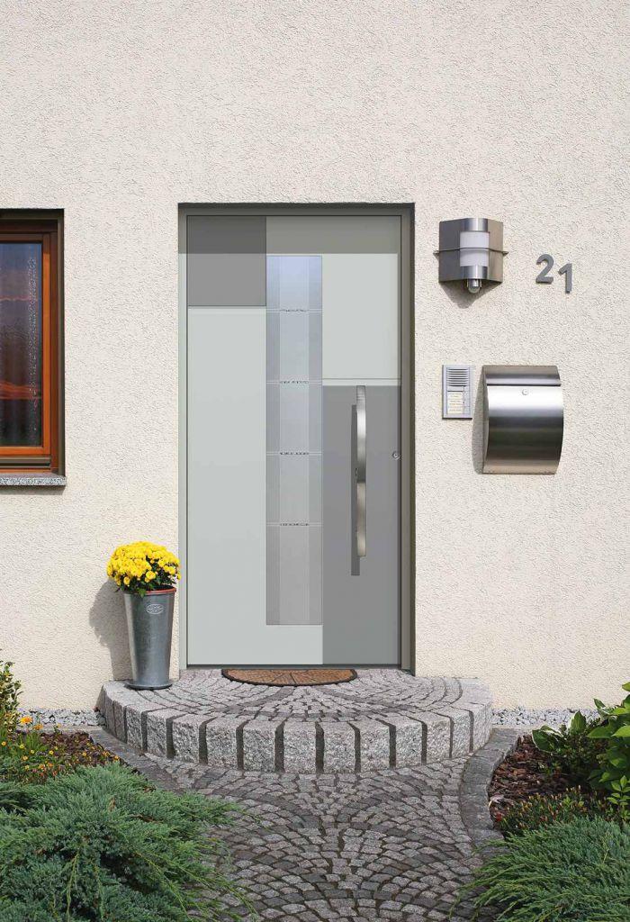 moderne aluminium haust ren von kompotherm ausstellung sonne rundum gmbh. Black Bedroom Furniture Sets. Home Design Ideas