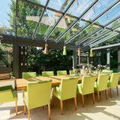 Innenansicht Solarlux Wintergarten Modell Akzent Vision