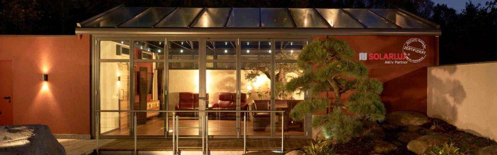 Solarlux Wintergarten mit Glas-Faltwand