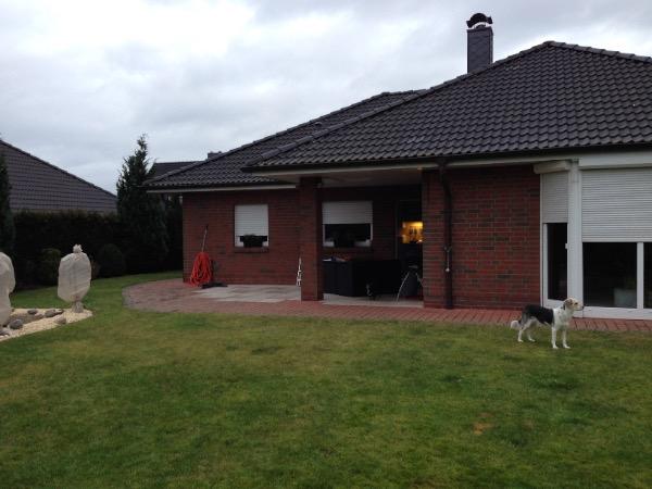 Vor der Installation des Solarlux Glashauses in Westerhorn