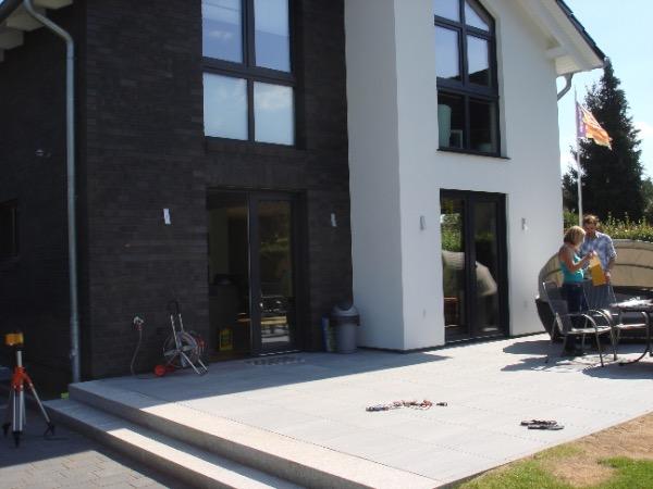 Vor der Installation Solarlux Atrium Plus Terrassenüberdachung in Hamburg