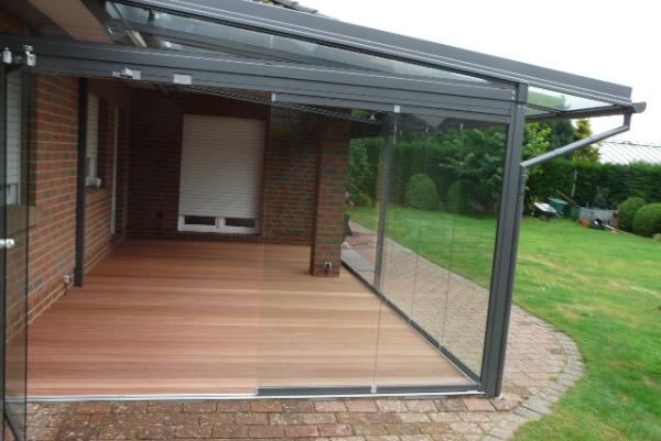 Ansicht von der Seite Solarlux Glashaus in Westerhorn