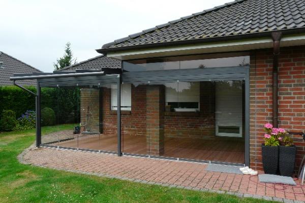Aussenansicht Solarlux Glashaus in Westerhorn