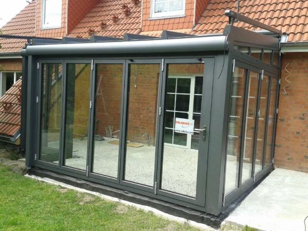 Installation Wintergarten Akzent Plus von Solarlux in Hamburg