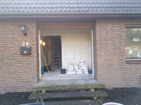 Installation Kompotherm KOtherm 96 Haustür in Tornesch