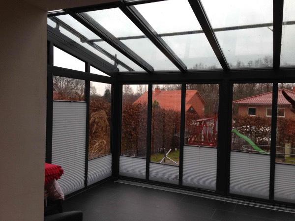 Innenansicht Solarlux Wintergarten Akzent Plus aus Aluminium in Buchholz