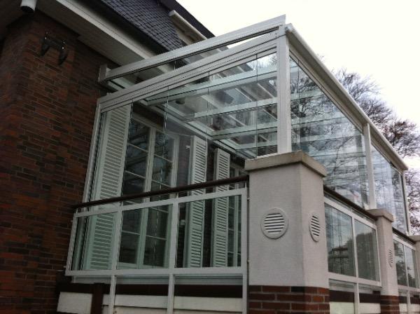 Aussenansicht Solarlux Glashaus in Hamburg