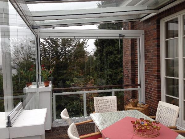 Solarlux Glashaus in Hamburg Innenansicht