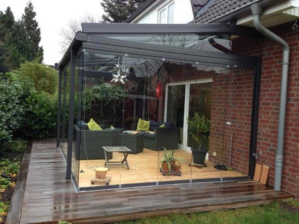 Seitenansicht Solarlux Glashaus in Hamburg-Eidelstedt
