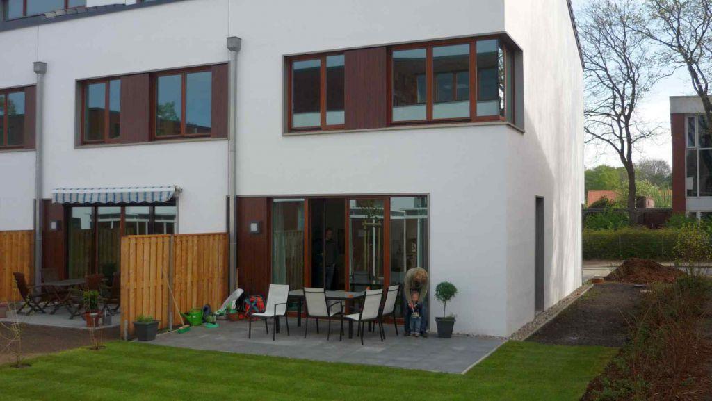 Vor der Installation der neuen Terrassenüberdachung