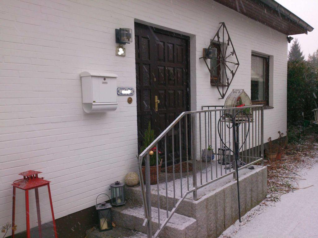 Alte Haustür Seitenansicht