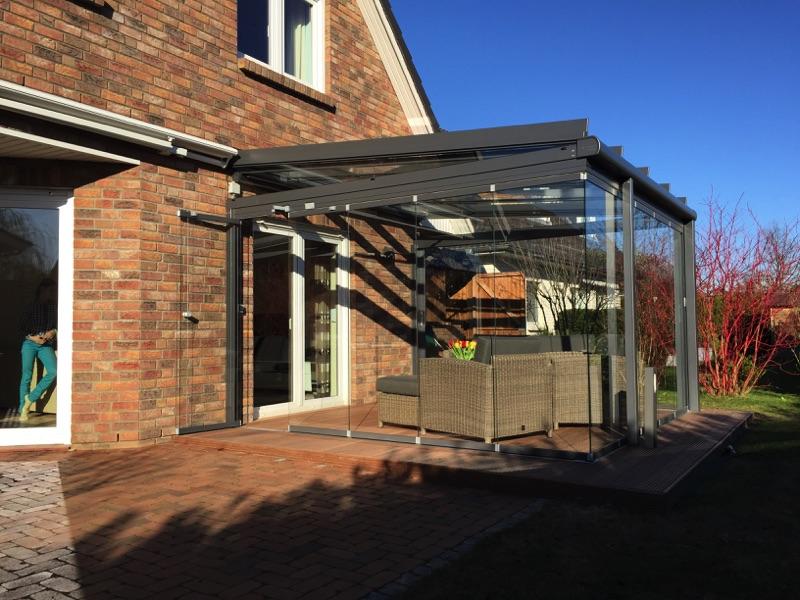 Aussenansicht Solarlux Glashaus in Elmshorn