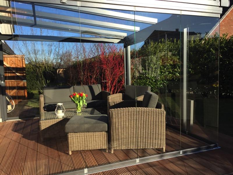Innenansicht Solarlux Glashaus in Elmshorn