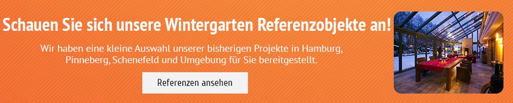 Schauen Sie sich unsere Wintergarten Referenzobjekte an! Wir haben eine kleine Auswahl unserer bisherigen Projekte in Hamburg, Pinneberg, Schenefeld und Umgebung für Sie bereitgestellt.