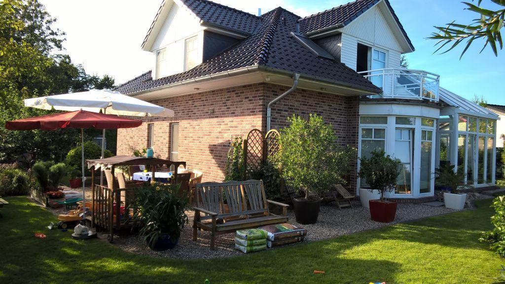 Vor der Installation Solarlux Glashaus in Rellingen