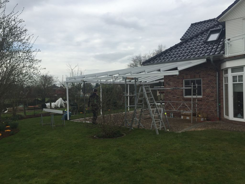 Installation Solarlux Glashaus in Rellingen
