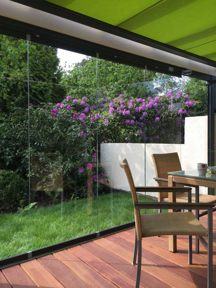 Innenansicht Solarlux Glashaus SDL Aura Holz-Alu in Appen
