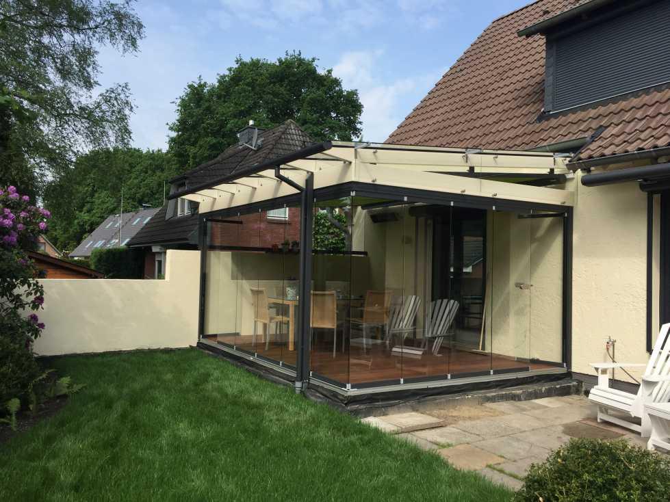 Aussenansicht Solarlux Glashaus SDL Aura Holz-Alu in Appen