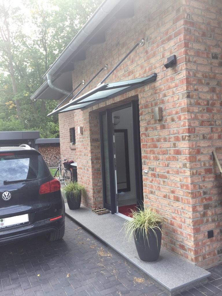 Kompotherm Vordach Zulegro in Buchholz Seitenansicht