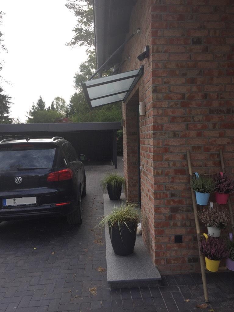 Kompotherm Vordach Zulegro in Buchholz Seitenansicht 2