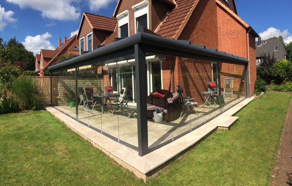 Solarlux Glashaus in Pinneberg mit geschlossener Seitenverglasung