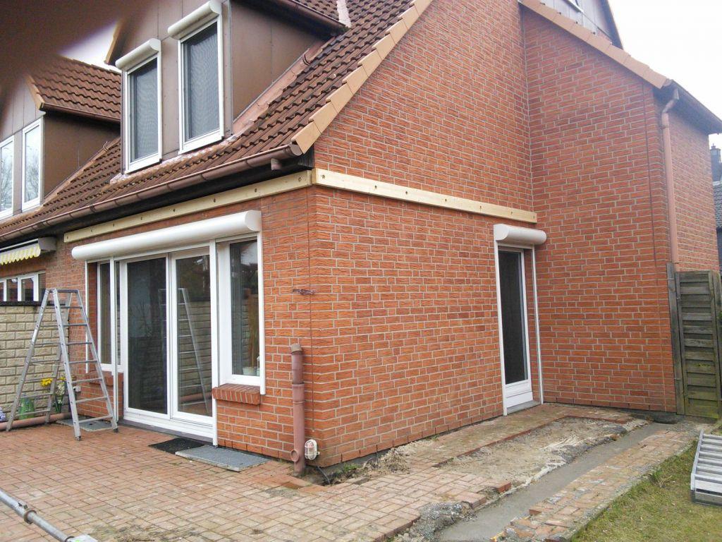 Vor der Installation des Solarlux Glashauses in Pinneberg