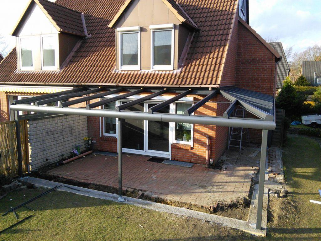 Installation des Solarlux Glashauses in Pinneberg
