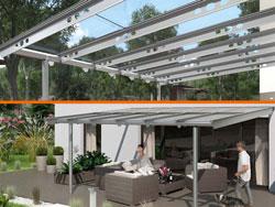 Design Terrassendach SDL Anova aus Aluminium