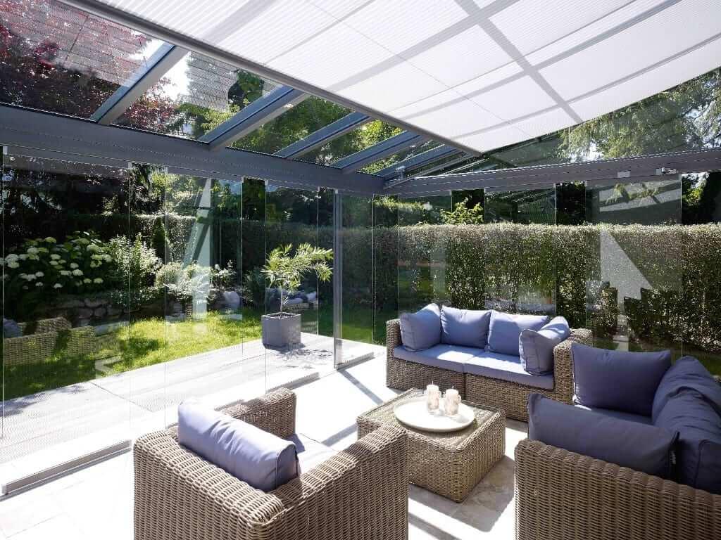 Solarlux Glashaus SDL Atrium Plus als Glashaus(2) mit Unterglasmarkise von Sonne Rundum in Hamburg