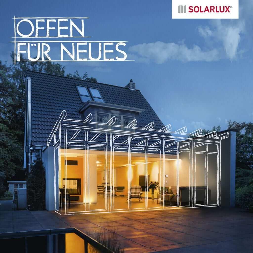 Solarlux Wintergarten Zeichnung bei Nacht für Wintergärten von Sonne Rundum in Hamburg