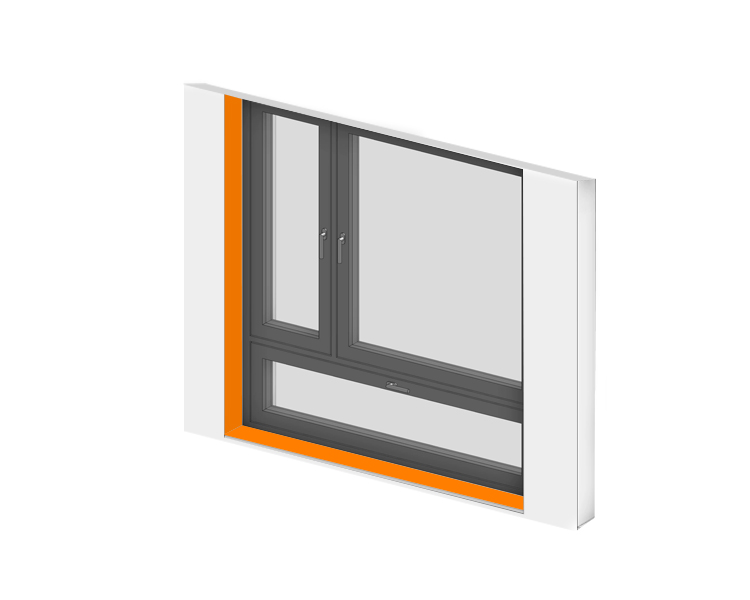 Laibung bzw. Fensterrahmen
